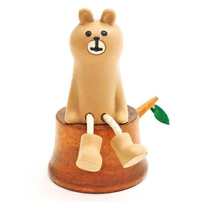 日本Decole加藤真治公仔 動物們的歡樂櫻花祭-森林物語原木年輪圓椅 ◤apmLife生活雜貨◢