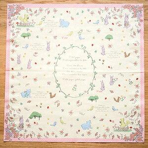 apm life:粉嫩薔薇俏皮動物桌巾紙◤apmLife生活雜貨◢
