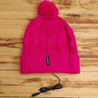 冬日搖滾隱藏式耳機毛帽 (桃紅款) ◤apmLife生活雜貨◢ 0