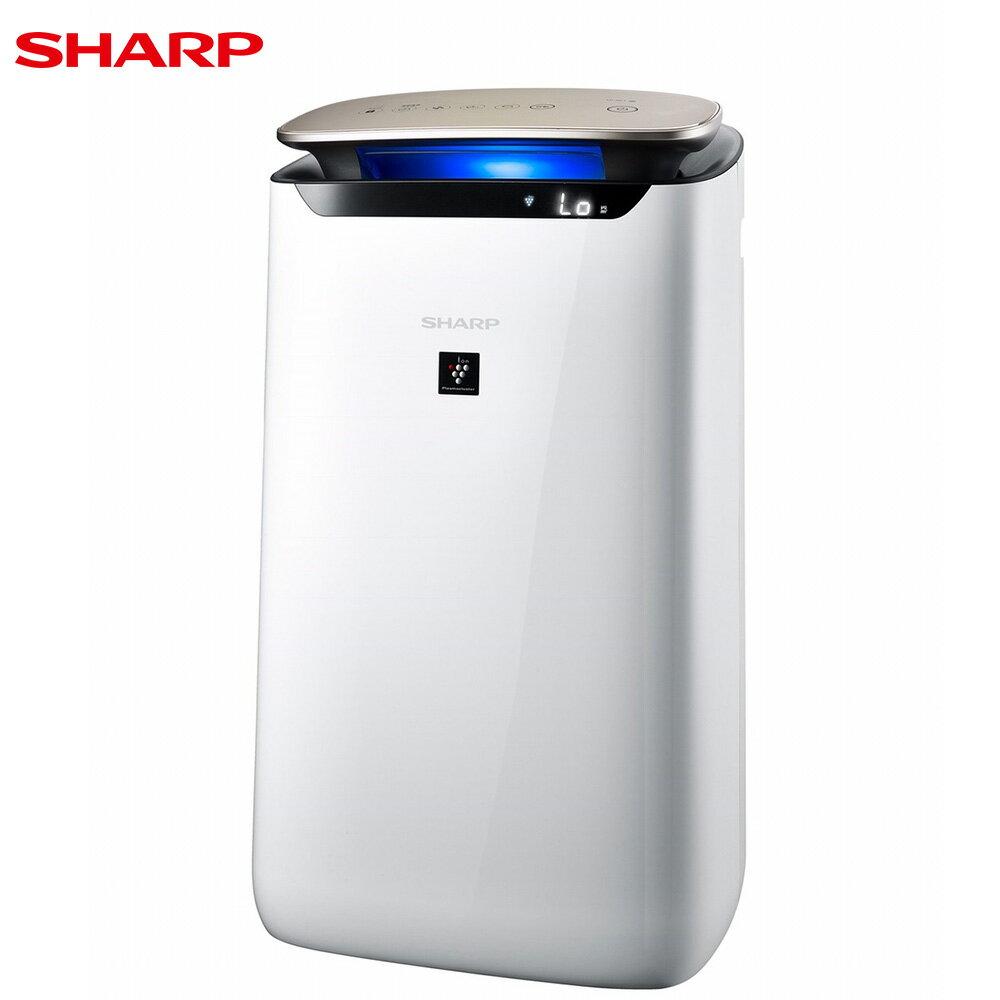SHARP 夏普 FP-J80T-W 空氣清淨機 19坪 自動除菌離子 LED空氣品質指示燈