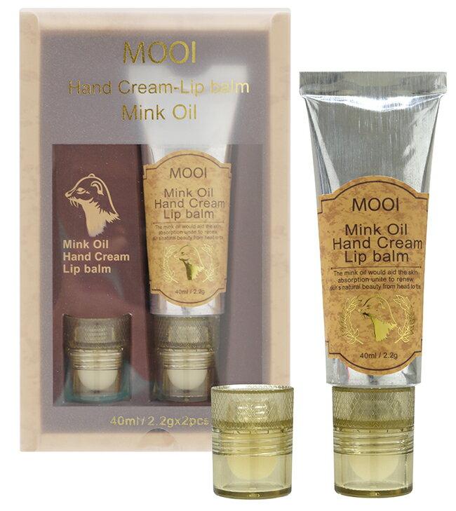 MOOI 黃金貂油唇手修護霜(40ml+2.2g*2)