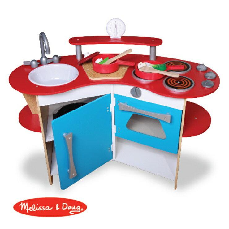 美國瑪莉莎 Melissa & Doug  木製玩食趣小廚師廚房