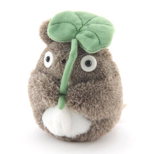 宮崎駿 龍貓 TOTORO 撐葉子造型手玉 S號娃娃 沙包玩偶 該該貝比日本精品