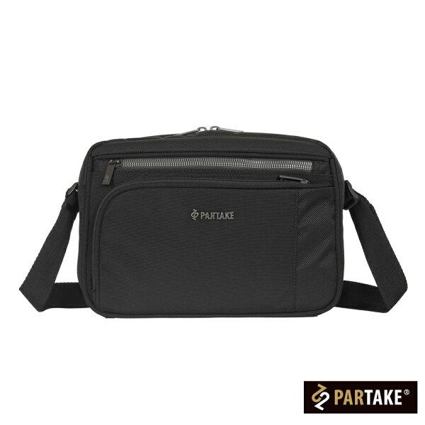 【加賀皮件】PARTAKEC1系列商務多收納橫式斜背包側背包C1-61