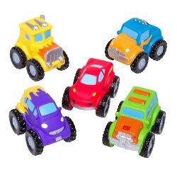 【美國Elegant Baby】洗澡玩具5入組- 怪獸卡車 #40568