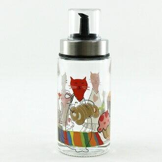 【珍昕】Quasi 歐風甜蜜貓油醋罐(170ml) 隨機花色