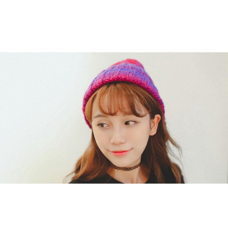 毛帽 雙色漸層時尚百搭針織毛帽【QI1653】 BOBI  10/13 1