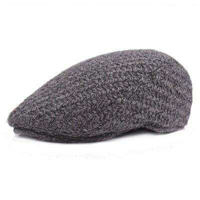 貝雷帽鴨舌帽-粗毛線加厚純色保暖男女帽子2色73tv212【獨家進口】【米蘭精品】