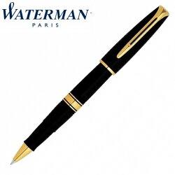 【華特曼 WATERMAN】查理斯登系列 黑桿金夾 鋼珠筆 W0701000 /支