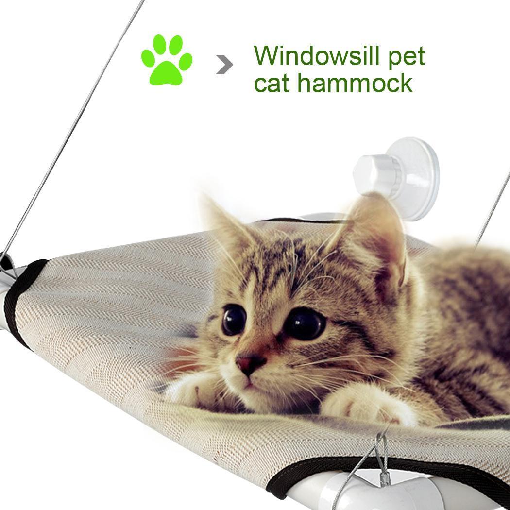 Pet Cot Window Bench Perch Bed Hanging Shelf Seat Original Comfortable With 4 Suckers 1