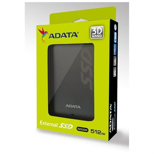 ADATA Premier SV620H 3D NAND Flash USB 3.1 External SSD 512GB Titanium (ASV620H-512GU3-CTI) 1