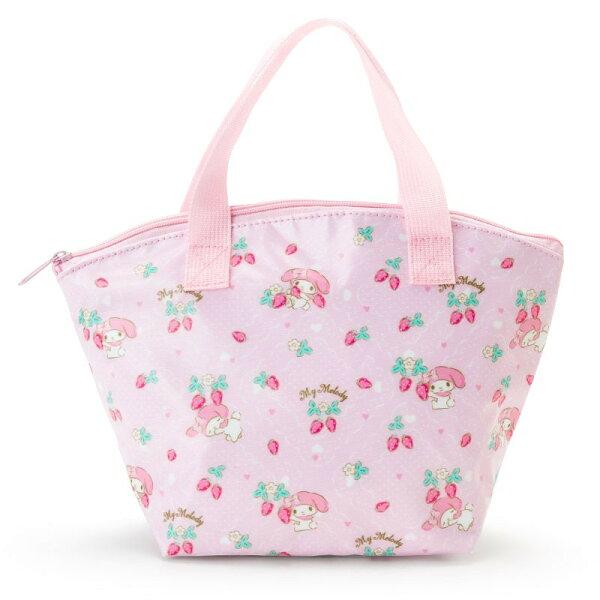 X射線【C918074】美樂蒂Melody保冷便當袋-草莓,保冷袋購物袋雜物袋便當袋保溫袋保鮮餐袋食物袋
