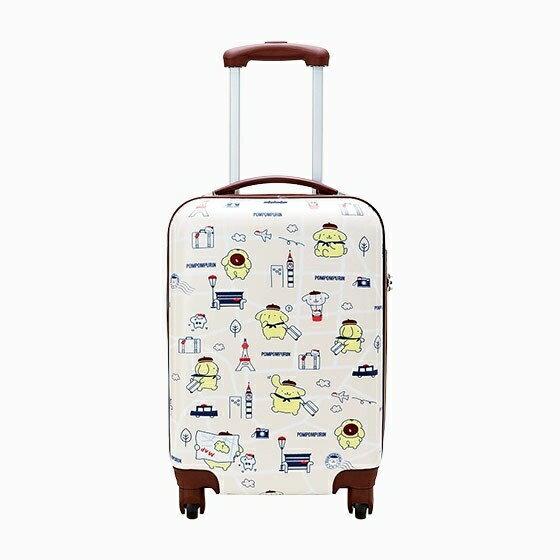 【真愛日本】4901610284711 硬殼旅行箱-PN旅行AAS 三麗鷗 布丁狗 行李箱 登機箱