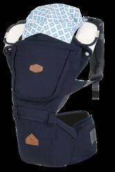 i-angel BIG SIZE加大系列 座椅式背帶/座墊式背巾/揹巾-海軍藍(總代理公司貨)