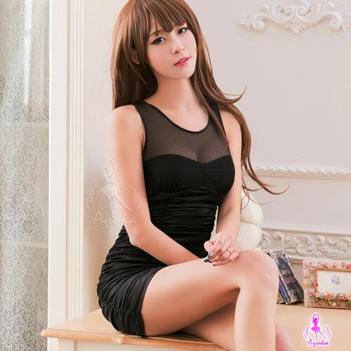 情趣用品黑色誘惑合身辣妹洋裝角色扮演服