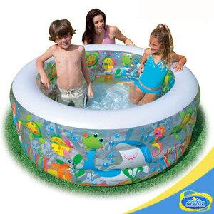 金魚充氣泳池. .水池.游泳池.充氣游泳池.充氣泳池.充氣水池C142~58480