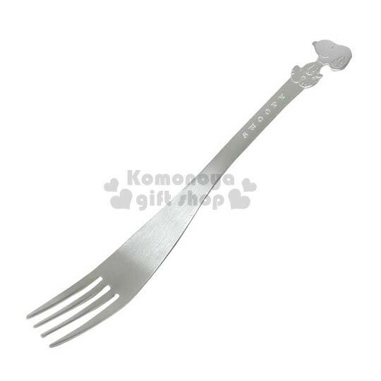 〔小禮堂〕史努比日製造型不鏽鋼叉子《大.銀.側站》特殊質感素雅可愛
