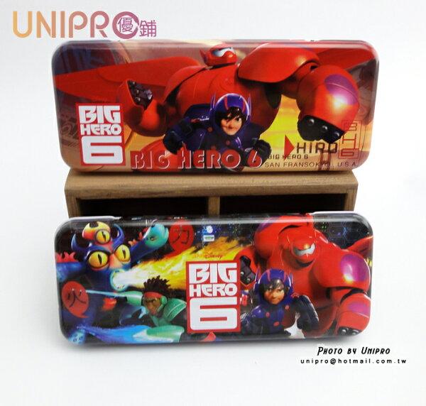 【UNIPRO】迪士尼大英雄天團BigHero6杯麵Hiro雙層鐵製鉛筆盒置物盒開學用品正版