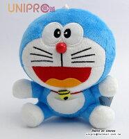 小叮噹週邊商品推薦【UNIPRO】哆啦A夢 小叮噹 Doraemon 6吋 坐姿 絨毛玩偶 娃娃 小吊飾 禮物