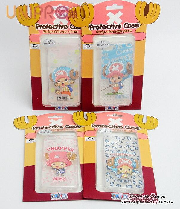 ~UNIPRO~iPhone 5 5s 海賊王 喬巴 One Piece 手機殼 透明軟殼