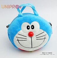 小叮噹週邊商品推薦【UNIPRO】哆啦A夢 Doraemon 小叮噹 立體 頭型 臉型 可愛大頭表情 手提 側背包 兩用包