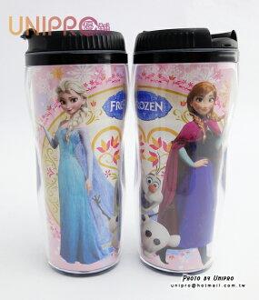 【UNIPRO】迪士尼 隨行杯 冰雪奇緣 曲線杯 370c.c 冷水杯 台灣製 水壺 隨身杯