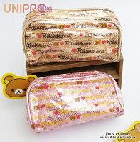 拉拉熊背包/包包/後背包推薦到UNIPRO 拉拉熊 Rilakkuma 懶熊 亮片雙層 化妝包 收納包 筆袋 萬用包 零錢包就在UNIPRO優鋪推薦拉拉熊背包/包包/後背包