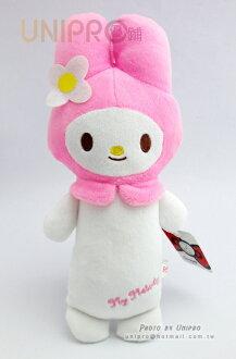 【UNIPRO】迪士尼 三麗鷗 sanrio 美樂蒂 Melody 7吋 絨毛玩偶 長抱枕造型 娃娃 布偶 吊飾