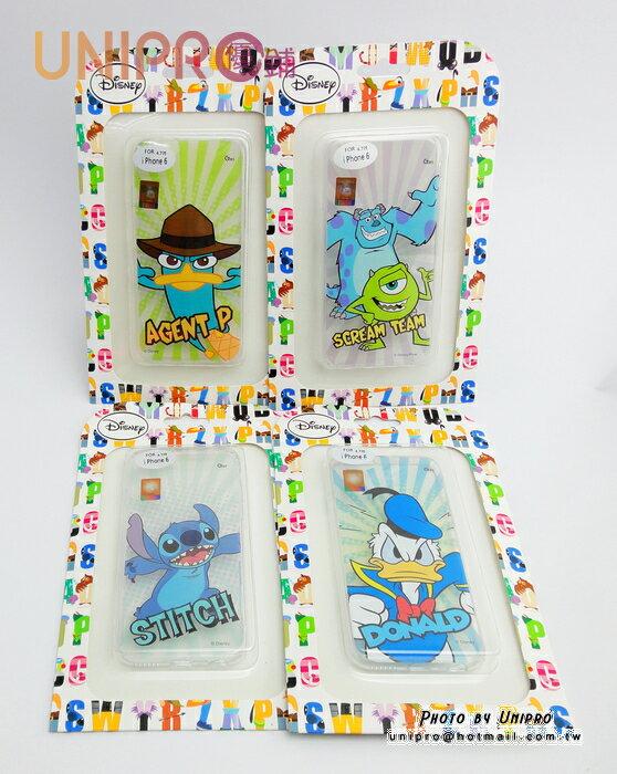 【UNIPRO】iPhone 6 4.7吋 迪士尼卡通 史迪奇 怪獸大學 泰瑞鴨 唐老鴨 透明 軟殼 TPU 手機殼 保護套