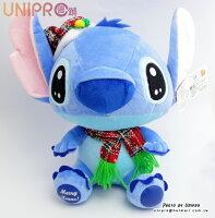 送小孩聖誕禮物到【UNIPRO】迪士尼 史迪奇 Stitch 星際寶貝 聖誕 圍巾 X'MAS 絨毛玩偶 娃娃 禮物 坐姿 生日 聖誕