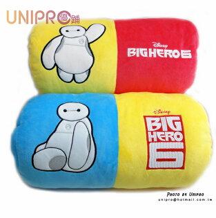 【UNIPRO】迪士尼大英雄天團杯麵雙色暖手枕抱枕靠枕圓筒枕正版授權
