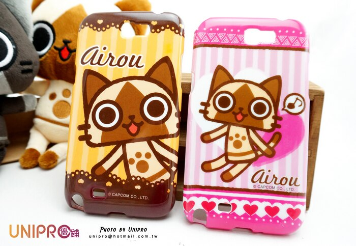 【UNIPRO】Samsung Galaxy NOTE2 N7100 艾路貓 AIROU TPU 亮粉 超Q貓咪 手機殼 保護套
