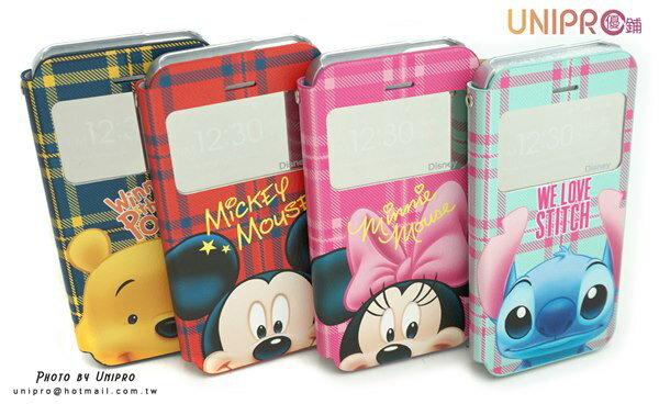 UNIPRO 迪士尼 iPhone 5 5S NOTE3 NOTE2 小熊維尼 米奇 米妮 史迪奇 英倫風 開窗 手機保護套 韓製