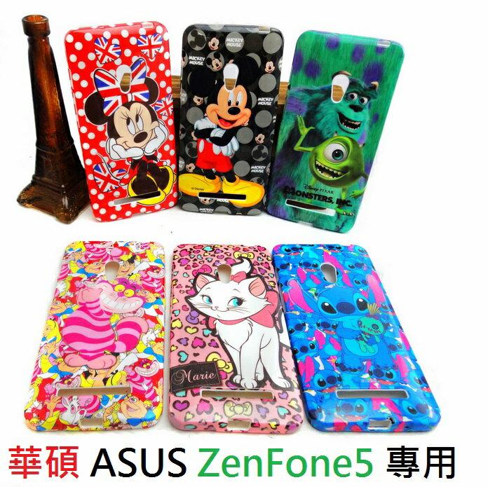 【UNIPRO】ASUS 華碩 ZenFone5 迪士尼卡通手機殼 史迪奇 三眼怪 米妮 米奇 怪獸大學 瑪麗貓 妙妙貓 保護套 TPU軟殼 A500CG A501CG