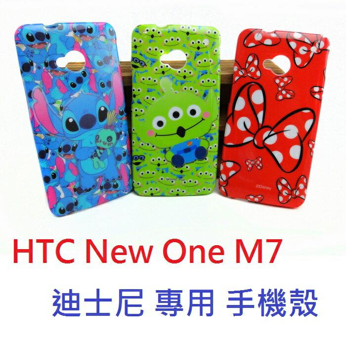 【UNIPRO】HTC NEW ONE M7 迪士尼 史迪奇 三眼怪 米妮蝴蝶結 TPU 手機殼 保護套