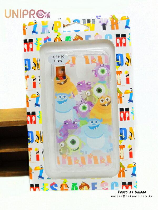 【UNIPRO】HTC ONE E8 迪士尼 怪獸大學 全員集合 毛怪 大眼 TPU 透明 手機殼 保護套 正版授權