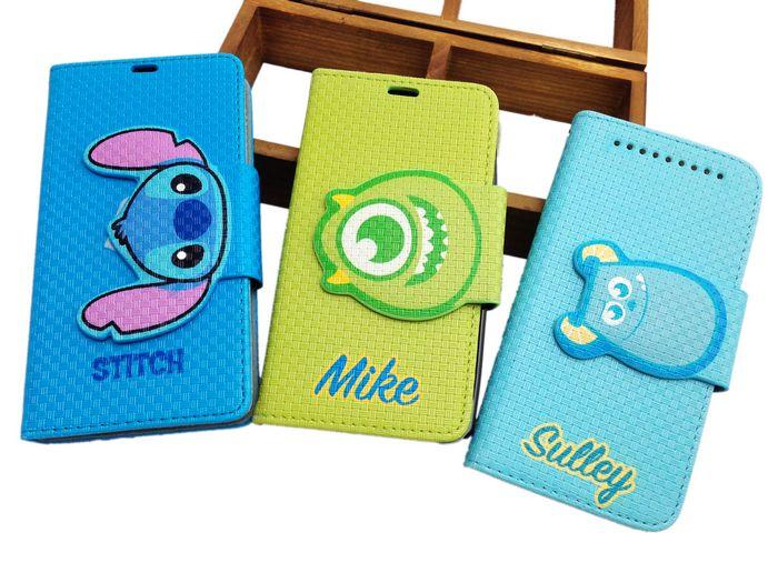 UNIPRO 迪士尼授權 HTC NEW ONE M7 毛怪 大眼仔 史迪奇 手機保護套