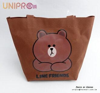【UNIPRO】LINE FRIENDS 熊大 手提袋 便當袋 BROWN 布朗熊 正版授權