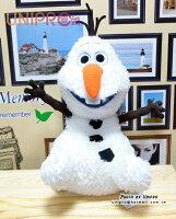 【UNIPRO】冰雪奇緣 FROZEN 雪寶 50公分 Olaf 雪花 絨毛 坐姿 娃娃 玩偶 手偶 HAPPY SNOW MAN