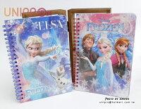 【UNIPRO】冰雪奇緣 FROZEN 雪花浮雕彩色筆記本 13X18.5cm ELSA ANNA  韓貨