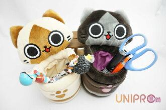 【UNIPRO】AIROU 艾路貓 梅拉路 吸盤 絨毛 筆筒 卡路貓 貓咪 吊飾 絨毛玩偶 娃娃 正版授權