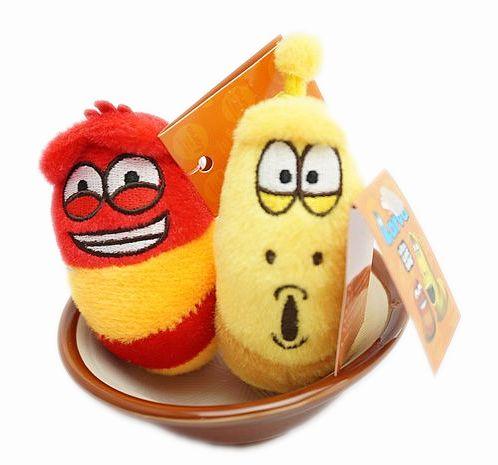 UNIPRO 正版授權 滑稽臉 迷你 逗逗蟲 豆豆蟲 Larva 造型玩偶 絨毛娃娃 逗趣吊飾