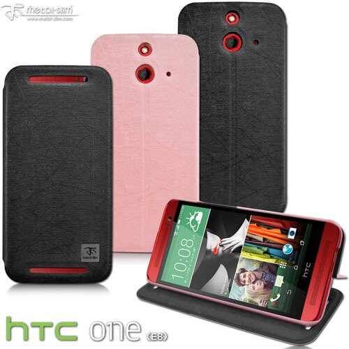 ~UNIPRO~Metal~Slim HTC One E8 隱藏式 磁扣 髮絲紋 超薄0.