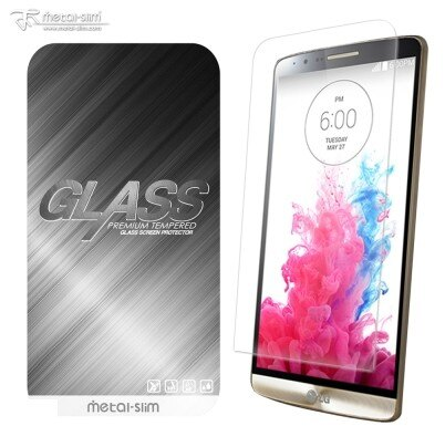 【UNIPRO】LG G3 0.33mm 9H弧邊耐磨防指紋鋼化玻璃保護貼 日本進口材質 Metal-Slim 保護膜 [LG11]