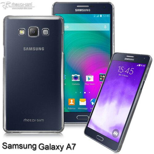 【UNIPRO】Metal-Slim Samsung Galaxy A7 高抗刮PC透明系列保護殼 A700 加高設計