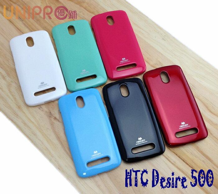 UNIPRO HTC Desire 500 Z4 Mercury 糖果色 TPU 亮粉 軟矽膠手機保護套 手機殼