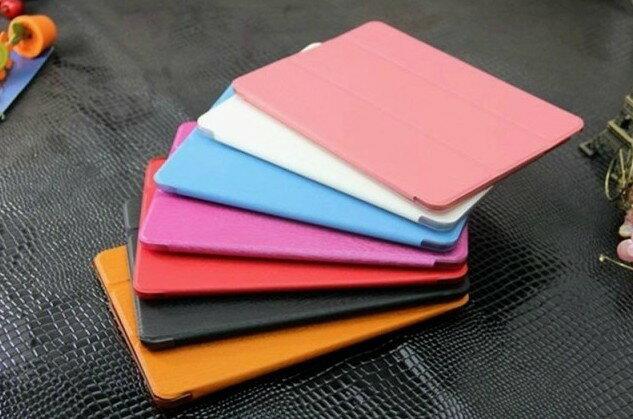 UNIPRO【P603】Samsung NOTE 10.1 2014 P600 P601 超薄超輕 果凍色 三折站立 保護套 背透 一體成形