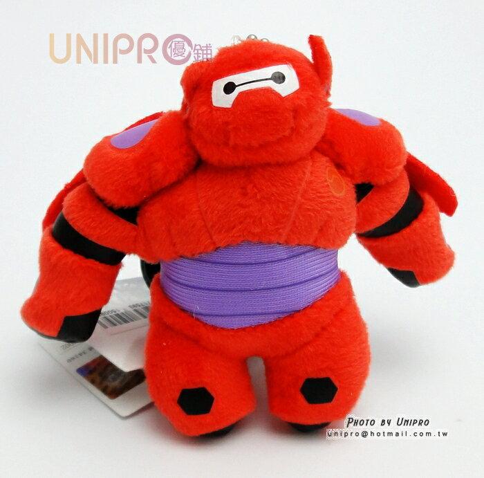 【UNIPRO】迪士尼 大英雄天團 Big Hero 6 杯麵 紅盔甲 公仔 珠鍊娃娃 小吊飾 4吋 包包吊飾 正版授