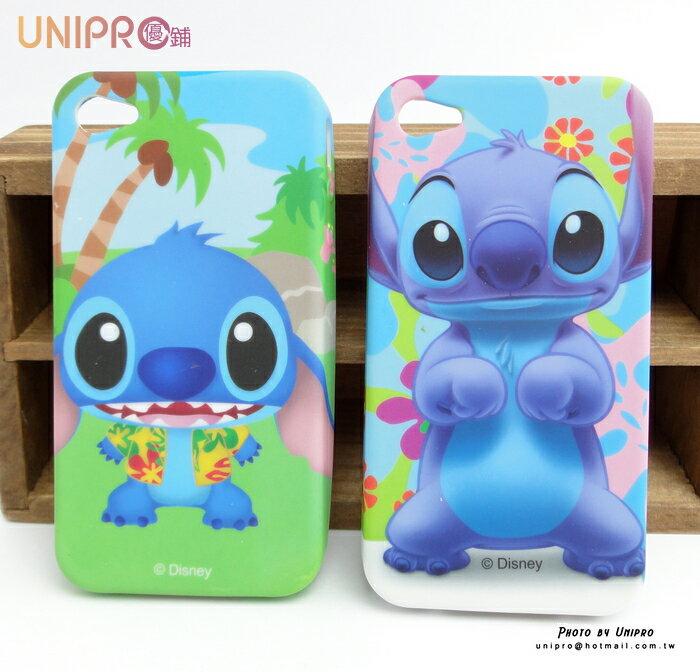 【UNIPRO】iPhone 4 4S 迪士尼卡通手機殼 史迪奇 TPU 軟殼 手機殼 保護套