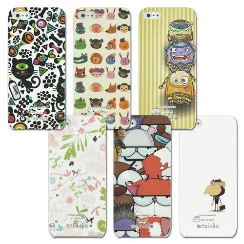 UNIPRO【i5123】Metal-Slim iPhone 5 5S 彩繪 塗鴉 卡通 卡夢紋 超薄 背蓋 保護 手機 殼 套 送保護貼